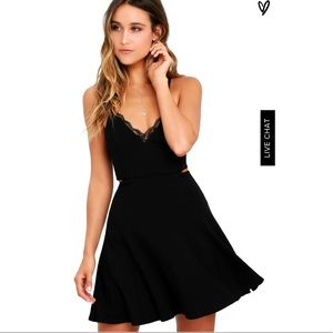 Lush Navy color perfect evening skater dress